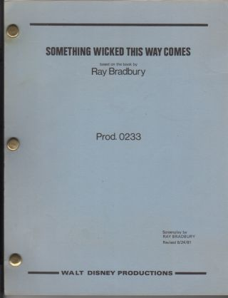 Something Wicked This Way Comes. Screenplay