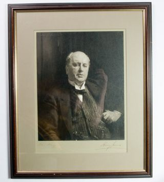 Original silver bromide photograph of John Singer Sargent's celebrated portrait of Henry James,...